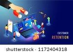 isometric design for customer... | Shutterstock .eps vector #1172404318