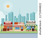 stores at city scenery | Shutterstock .eps vector #1172404822