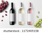 wine bottles mockup isolated on ... | Shutterstock . vector #1172405158