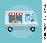 food truck cartoon | Shutterstock .eps vector #1172405932
