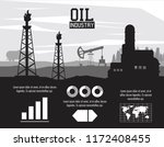 oil industry infographic | Shutterstock .eps vector #1172408455