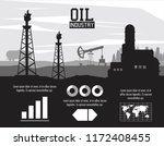 oil industry infographic | Shutterstock .eps vector #1172408455