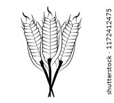 wheat food symbol in black and... | Shutterstock .eps vector #1172412475