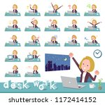 a set of women on desk work... | Shutterstock .eps vector #1172414152