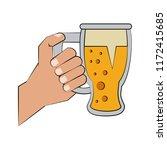 hand holding beer cup | Shutterstock .eps vector #1172415685