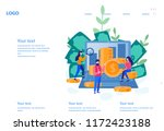 concept growth your business ... | Shutterstock .eps vector #1172423188