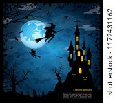halloween scary night square... | Shutterstock .eps vector #1172431162