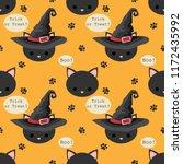 halloween seamless pattern with ...   Shutterstock .eps vector #1172435992