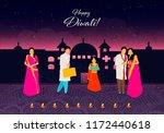happy diwali.happy diwali.... | Shutterstock .eps vector #1172440618
