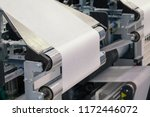 paper roll machine  cut and fold | Shutterstock . vector #1172446072