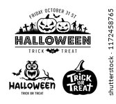 halloween black and white... | Shutterstock .eps vector #1172458765
