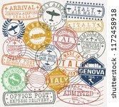 genova italy stamp vector art... | Shutterstock .eps vector #1172458918