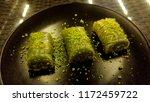 traditional turkish dessert... | Shutterstock . vector #1172459722