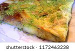traditional turkish dessert... | Shutterstock . vector #1172463238
