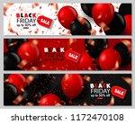 black friday sale horizontal... | Shutterstock .eps vector #1172470108