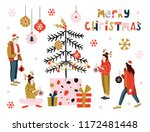 christmas greeting card with... | Shutterstock .eps vector #1172481448