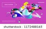 creative geometric wallpaper.... | Shutterstock .eps vector #1172488165