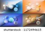 set of 4 colorful trendy... | Shutterstock .eps vector #1172494615