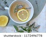 herbal tea with mint and lemon. ...   Shutterstock . vector #1172496778