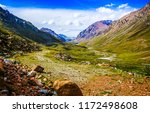 mountain valley landscape.... | Shutterstock . vector #1172498608