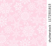 stylized snowflakes on pink... | Shutterstock .eps vector #1172501815