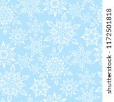 stylized snowflakes on blue... | Shutterstock .eps vector #1172501818