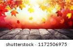 autumn colorful background with ... | Shutterstock . vector #1172506975
