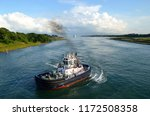 panamacanal authority tugboat... | Shutterstock . vector #1172508358