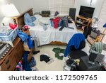 very messy  cluttered teenage... | Shutterstock . vector #1172509765