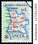 angola   circa 1955  a stamp... | Shutterstock . vector #1172511325