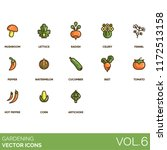gardening vector icons.... | Shutterstock .eps vector #1172513158