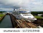 westbound cruise ship and a... | Shutterstock . vector #1172515948