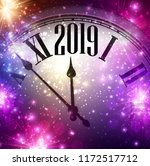 purple shiny 2019 new year... | Shutterstock .eps vector #1172517712