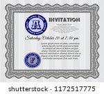 grey invitation template.... | Shutterstock .eps vector #1172517775