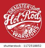 cute hot rod car motor racing... | Shutterstock .eps vector #1172518852