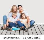 beautiful smiling lovely family ... | Shutterstock . vector #1172524858