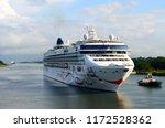 westbound cruise liner... | Shutterstock . vector #1172528362