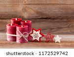 four candles decorated with... | Shutterstock . vector #1172529742