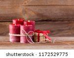 four candles decorated with... | Shutterstock . vector #1172529775