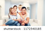 beautiful smiling family... | Shutterstock . vector #1172540185