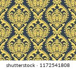 vector damask seamless pattern... | Shutterstock .eps vector #1172541808