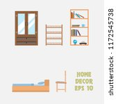 home decoration flat icon set 2....   Shutterstock .eps vector #1172545738
