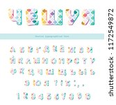 cyrillic mermaid scale colorful ... | Shutterstock .eps vector #1172549872