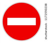 no entry or do not enter ... | Shutterstock .eps vector #1172550238