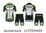 cycling jerseys mockup t shirt... | Shutterstock .eps vector #1172554435