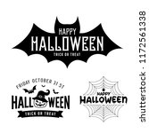 happy halloween party black and ... | Shutterstock .eps vector #1172561338