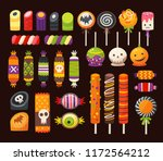halloween sweets for kids in... | Shutterstock .eps vector #1172564212