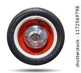vintage wheel classic isolated... | Shutterstock . vector #1172569798