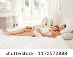 mother and young daughter child ... | Shutterstock . vector #1172572888