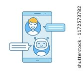 support chatbot color icon....   Shutterstock .eps vector #1172573782
